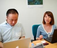 立薗理彦(左)、 佐藤真琴(右)