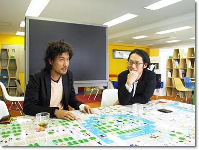 テクノロジストと建築家。似ているようでまったく違う2人の話は尽きない。
