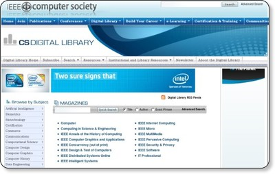 Digital Library Homepage
