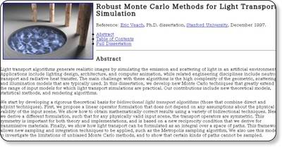 Robust Monte Carlo Methods for Light Transport Simulation