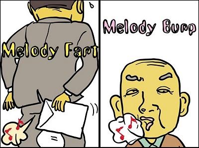 メロディっ屁(左)とメロゲップ(右)