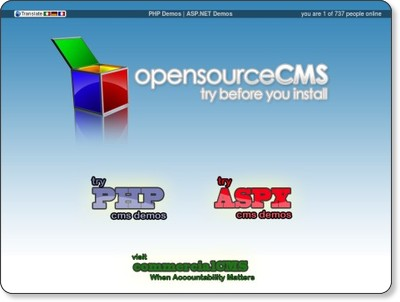 OpenSourceCMS - Try Open Source Demos