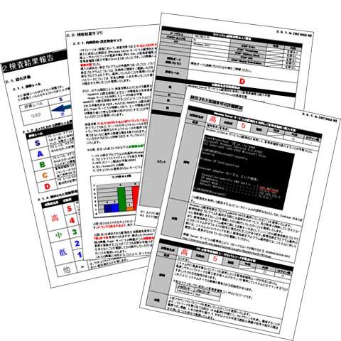 図2 検査結果報告書の例