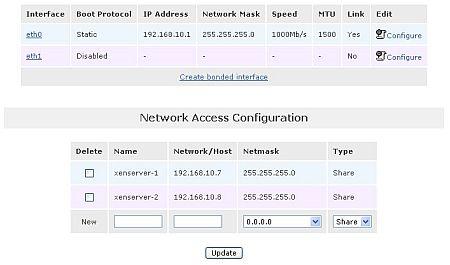 図14 共有ストレージ領域にアクセスする2台のサーバを登録
