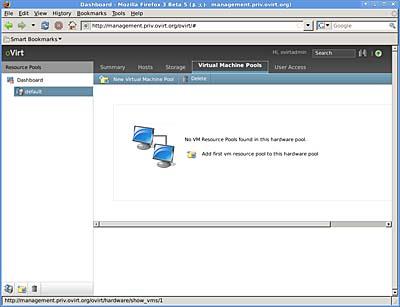 画面3 「New Virtual Machine Pool」をクリックする(クリックすると拡大します)