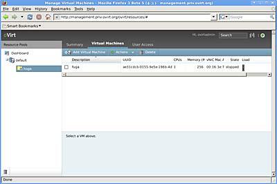 画面9 仮想マシンを選択し、「Actions」メニューから「start」を選択する(クリックすると拡大します)