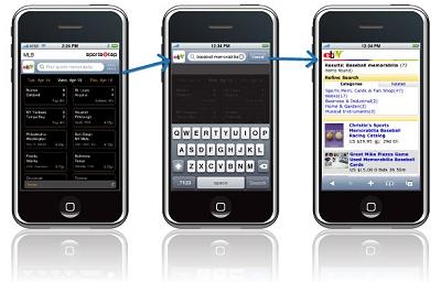 iPhoneアプリ向けのアフィリエイト広告イメージ(ebayのadmob例)