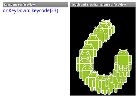 図5 キーイベント(左)とタッチイベント/トラックボールイベント(右)
