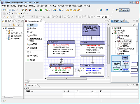 図1 ERMasterの画面
