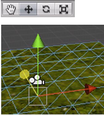 移動、回転、拡大選択パレット(上図)マウス操作ピボット(下図)