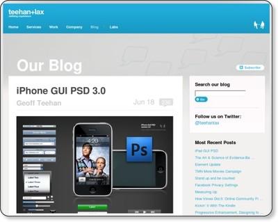 iPhone GUI PSD Design Template | Teehan+Lax via kwout