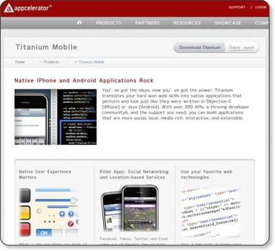 Titanium Mobile Application Development | Appcelerator via kwout