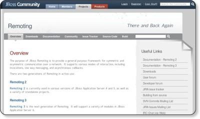 JBoss Remoting - JBoss Community via kwout