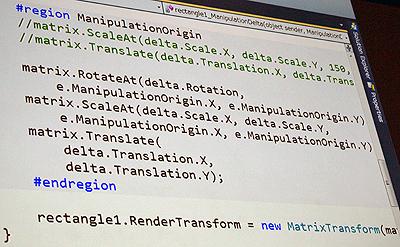 ScaleAtメソッド、Translateメソッドを使ったManipulationDeltaのイベントハンドラ