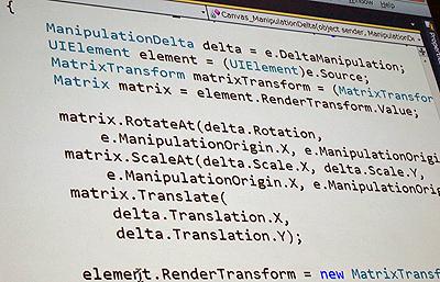 ManipulationDeltaのイベントハンドラ側のC#コード
