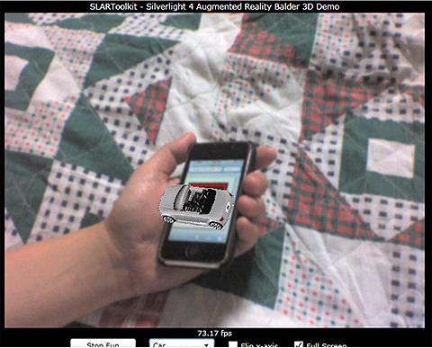 図6 管理画面上の「Test」ガジェット