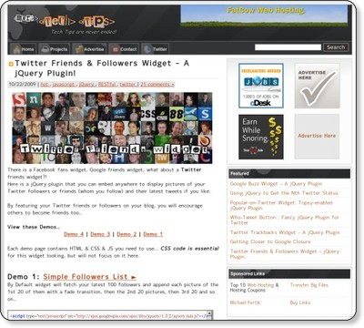 Twitter Friends & Followers Widget - A jQuery Plugin! via kwout