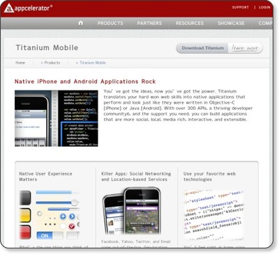 Titanium Mobile Application Development | Appcelerator via kwout