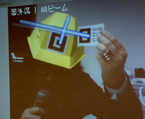 この日はソロ活動の川田さん。「自己紹介代わりにビームを発射します」とさりげなく(?)ARを披露。ビビビビィィィィィィーッ!!