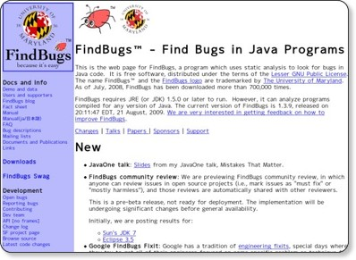 FindBugs − Find Bugs in Java Programs