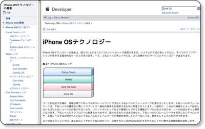 iPhone OSテクノロジーの概要: iPhone OSテクノロジー via kwout