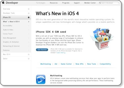 What's New in iOS 4 - Apple Developer via kwout