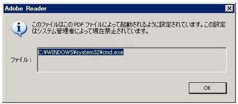 図3 テキストボックスの上部が表示され、OKを押しても実行されないよう修正
