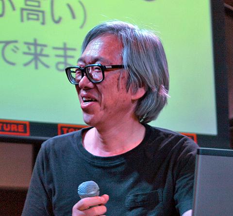 RVMXでパッケージソフトを開発する宮内さん。愛媛県松山市から、はるばる参戦。