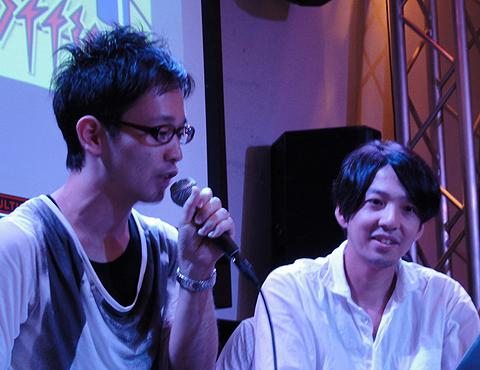 シグマコンサルティングの橋本圭一さん(左、プログラム担当、第2回にも出場)とグッドファームパートナーズ(GFP)の宮野琢也さん(右、デザイン担当)