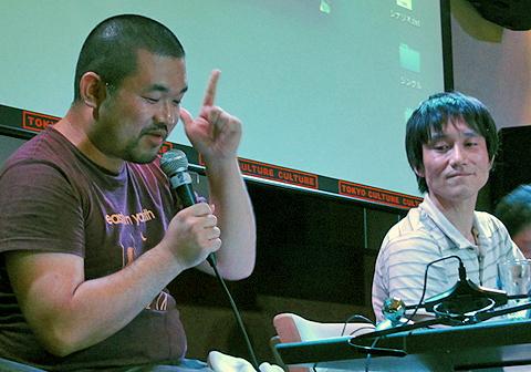 雑魚と雑魚の平野真章さん(左)と栗原芳己さん(右)
