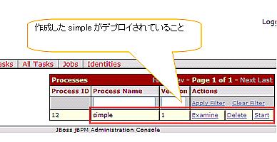 図16 jBPMコンソール画面