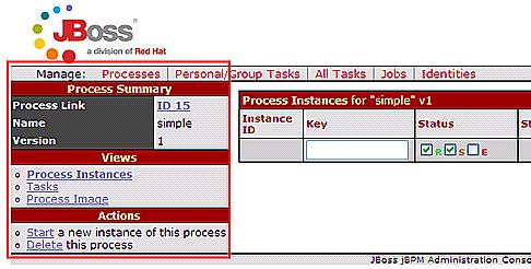 図17 「simple」の「Examine」リンク押下後の画面