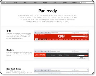 Apple - iPad-ready websites via kwout
