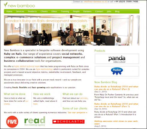 筆者が勤めるNew BambooのWebサイト