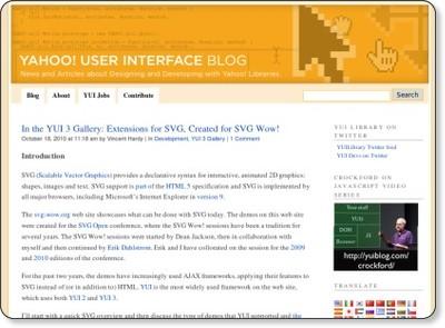 Yahoo! User Interface Blog (YUIBlog)