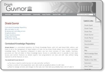 Drools Guvnor - JBoss Community via kwout
