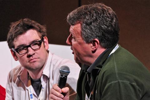 2009年のGoogle I/Oのトークセッションで話すポール・グラハム(撮影:@IT編集部)