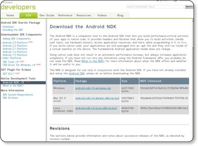 Android NDK | Android Developers via kwout