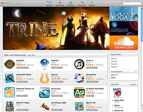 ある日のMac App Storeのトップ画面