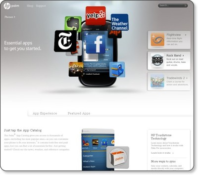 Palm USA | Palm Pre Phone | Features, Details