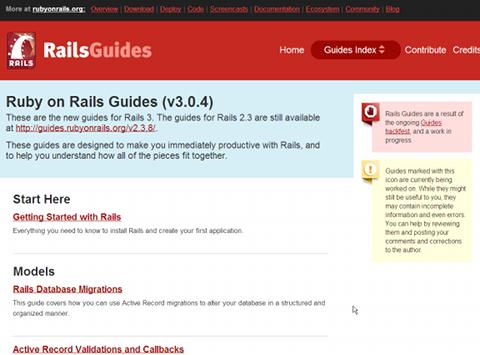 入門概説として必読ともいえる「Rails Guides」