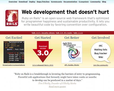 Ruby on Railsの公式サイト