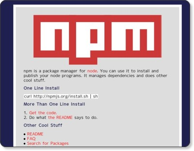 http://npmjs.org/