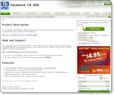 http://facebooksdk.codeplex.com/