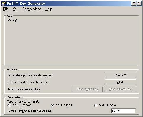 図1 生成する鍵の長さを2048bitに変更しておく