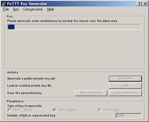 図2 ウィンドウ上部のプログレスバーが右端に達するまで、ポインタをでたらめに動かす
