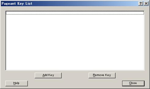 図7 秘密鍵の管理画面。初期状態では空