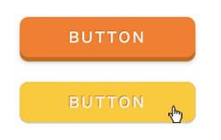 クリックすると、ボタンがへこむ