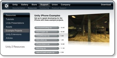 UNITY: Unity iPhone Examples via kwout
