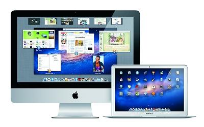 OS X Lionのデスクトップ画面イメージ